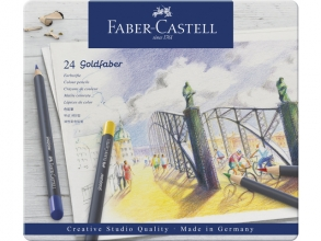 , Kleurpotloden Faber Castell Goldfaber blik à 24 stuks assorti