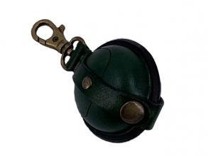 , sleutelhanger Mika Mini zadelleer opbergvak voor munten.    groen
