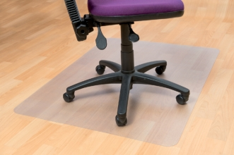 , Stoelmat Floortex PVC 120x150cm voor harde vloeren