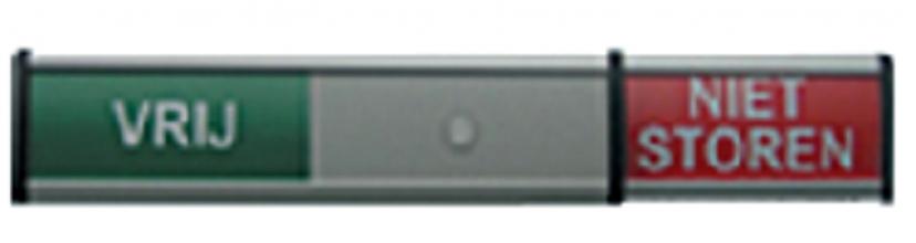 , Infobord vrij/niet storen 125x30mm