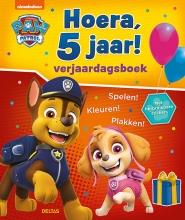 , Paw Patrol Hoera, 5 jaar! Verjaardagsboek