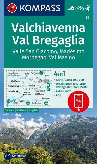 ,Valchiavenna, Val Bregaglia, Valle San Giacomo, Madésimo, Morbegno, Val Másino 1:50 000