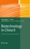 Biotechnology in China II,Chemicals, Energy and Environment