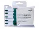 ,glasboardmarker Sigel 2-3mm ronde punt 5 stuks in etui groen