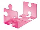 ,boekensteun HAN Puzzle set a 2 stuks signal roze