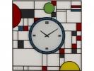 ,wandklok NeXtime 43x43cm glas, gekleurd, `Frank`