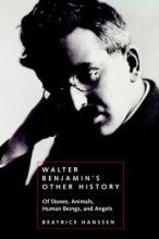 Hanssen, Beatrice Walter Benjamin`s Other History - Of Stones, Animals, Human Beings & Angels