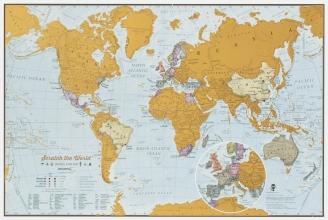 , Scratch the World travel 42 x 30 cm