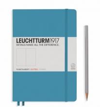 Lt354586 , Leuchtturm notitieboek medium 145x210 dots / bullets nordic blauw