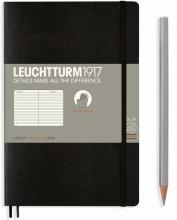 Lt358288 , Leuchtturm notitieboek softcover 19x12.5 cm lijn zwart