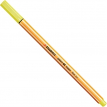 , Fineliner stabilo point 88/024 neon geel
