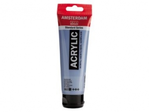 , Talens amsterdam acrylverf tube 120ml grijsblauw 562