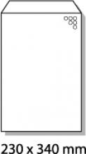 , luchtkussenenvelop Raadhuis 230x340mm G17 wit plakstrip     doos a 100 stuks