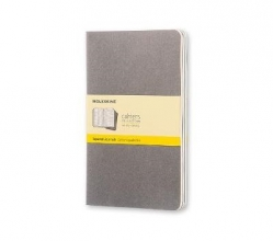 Moleskine Pebble Grey Squared Cahier Large Journal (3 Set)