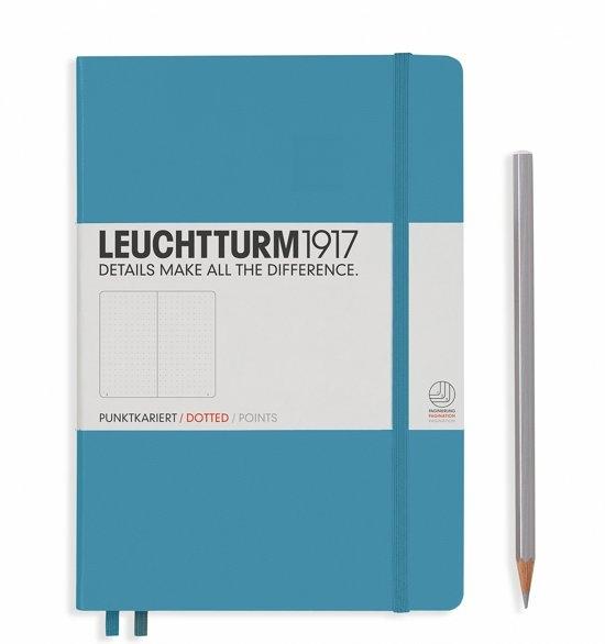 Lt354586,Leuchtturm notitieboek medium 145x210 dots / bullets nordic blauw