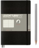 <b>Lt358288</b>,Leuchtturm notitieboek softcover 19x12.5 cm lijn zwart
