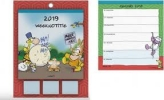 ,<b>Weekkalender 2019  vis sticky notes met schild</b>