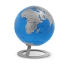 , globe iGlobe Turquoise 25cm diameter metaal/chroom
