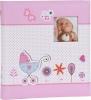 ,<b>Babyalbum Baby Moments Roze Voor 180 Foto`S 10x15</b>