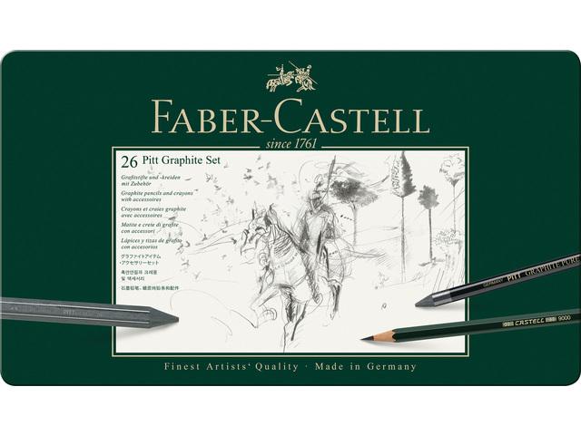 Fc-112974,Faber-castell grafietset 26 delig pitt