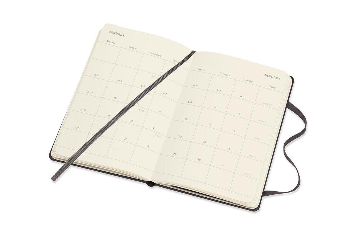 ,Moleskine 18 MND Agenda - 2020/21 - Maandelijks - Pocket (9x14 cm) - Zwart - Harde Kaft