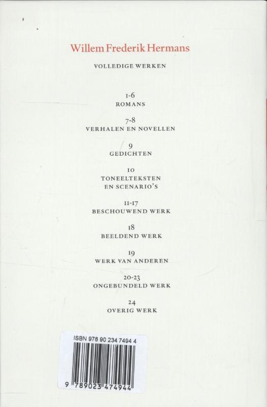 Willem Frederik Hermans,Volledige werken 15