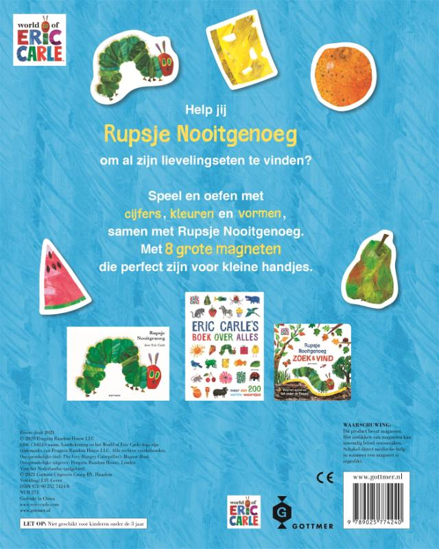 Eric Carle,Rupsje Nooitgenoeg magneetboek