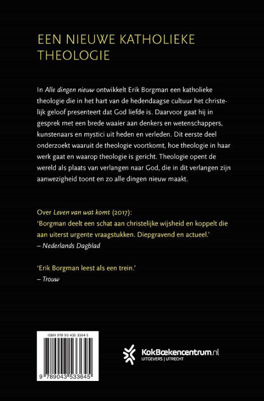 Erik Borgman,Alle dingen nieuw I: Inleiding en Invocatio