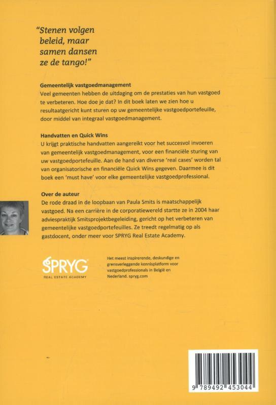 Paula Smits,Gemeentelijk vastgoedmanagement