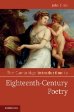 Sitter, John The Cambridge Introduction to Eighteenth-Century Poetry