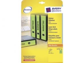 , ordnerrugetiket Avery 297x61mm groen 20 vel 3 etiketten per vel