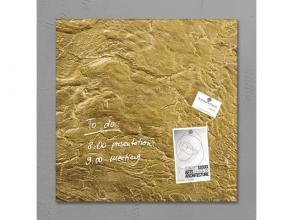, glasmagneetbord Sigel Artverum 480x480x15mm goud metallic
