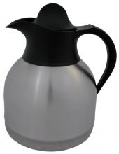 , Thermoskan koffiekan 1liter roestvrijstaal zwarte dop