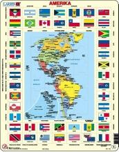 Larsen puzzel-  Vlaggen Amerika - KL4