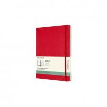 , Moleskine 18 MND Agenda - 2020/21 - Wekelijks - XL (13x25 cm) - Scarlet Red - Harde Kaft
