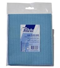 , Glasdoek Felicia blauw 40x40cm