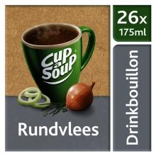, Cup-a-soup heldere bouillon runderbouillon 26 zakjes