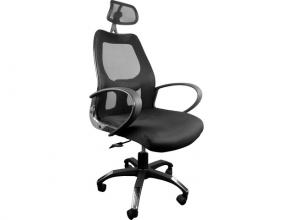 , Moderne bureaustoel, Kangaro. In hoogte verstelbaar, in     zwarte uitvoering