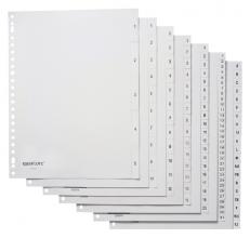 , Tabbladen Quantore 23-gaats 1-5 genummerd wit PP