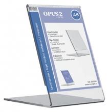 , Kaarthouder OPUS 2 L-standaard A6 staand acryl