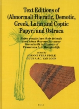 , Text Editions of (Abnormal) Hieratic, Demotic, Greek, Latin and Coptic Papyri and Ostraca
