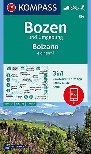 ,Bozen und Umgebung, Bolzano e dintorni 1:25 000