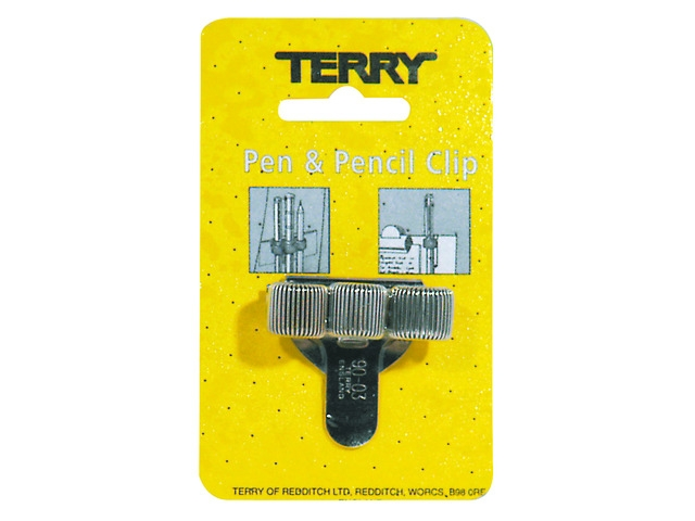 ,Terry Clip tbv 3 pennen/potlood zilverkleurig