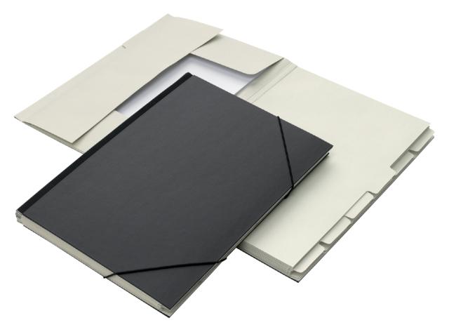 ,Combinatiemap Jalema folio 12 vakken 240gr zwart