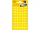,Etiket Avery Zweckform 3144 rond 12mm geel 270stuks