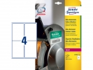<b>Ultra-heavy duty Avery etiket 99,1x139mm wit 10vel 4 et.per vel</b>,