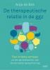 <b>Anja de Bok</b>,De therapeutische relatie in de ggz
