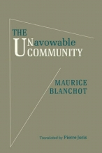 Blanchot, Maurice The Unavowable Community