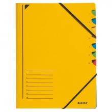 , Sorteermap Leitz 3907 7-delig karton geel