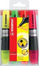 , Markeerstift STABILO Luminator 71/4 etui à 4 kleuren